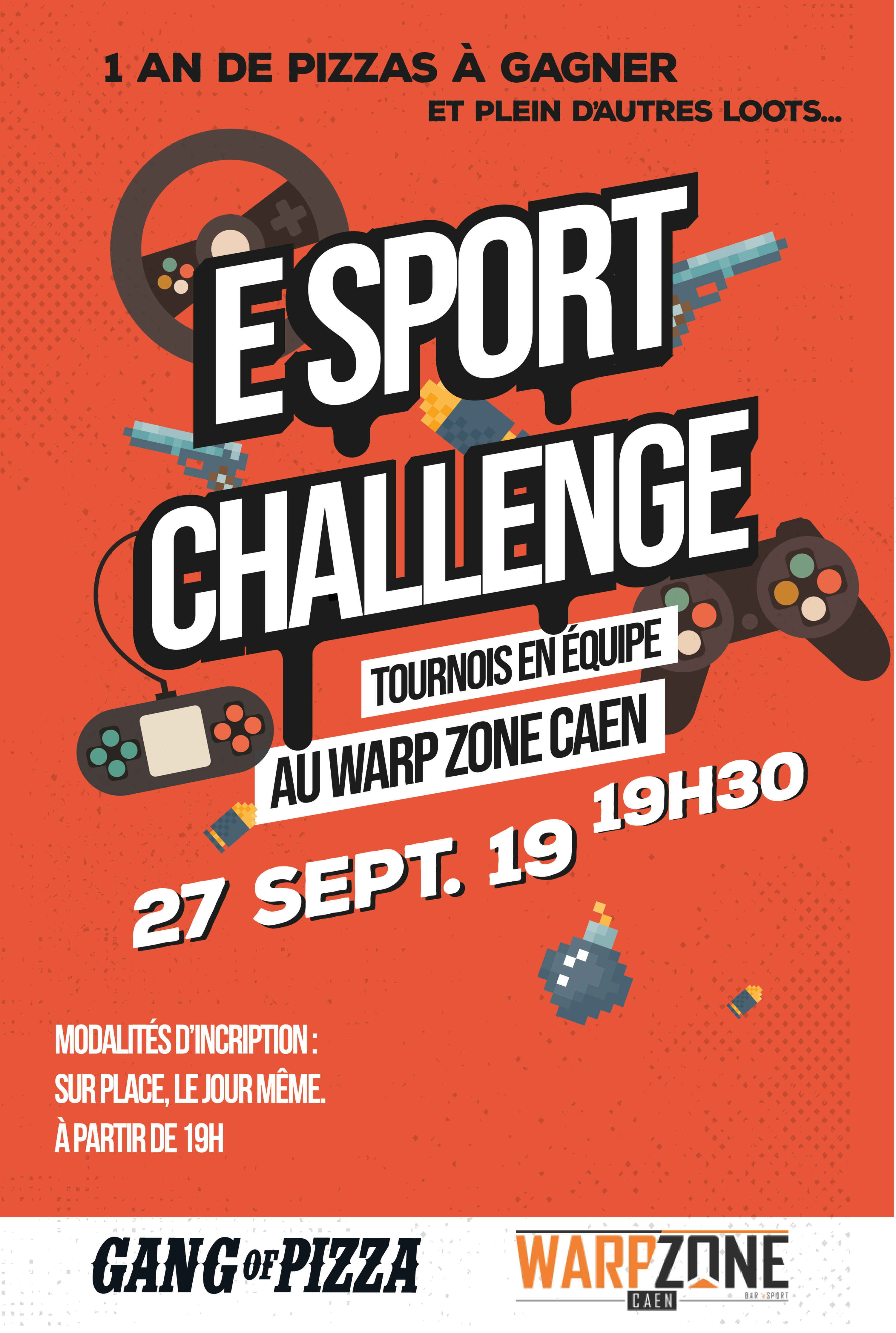Esport challenge warp zone 2019 gang of pizza