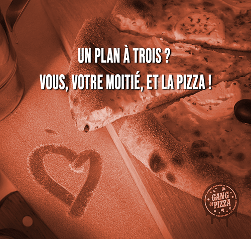 Saint valentin gang of pizza humour