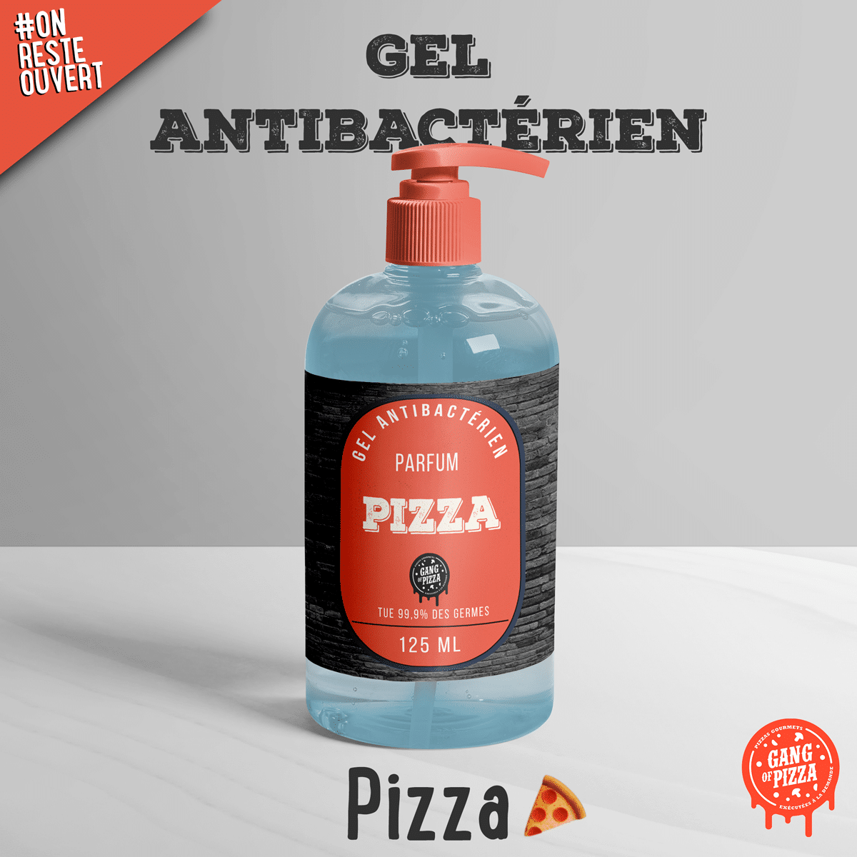Gel Antibactérien Gang Of Pizza